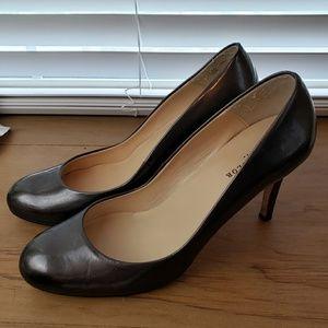 Ann Taylor metallic patent leather pumps
